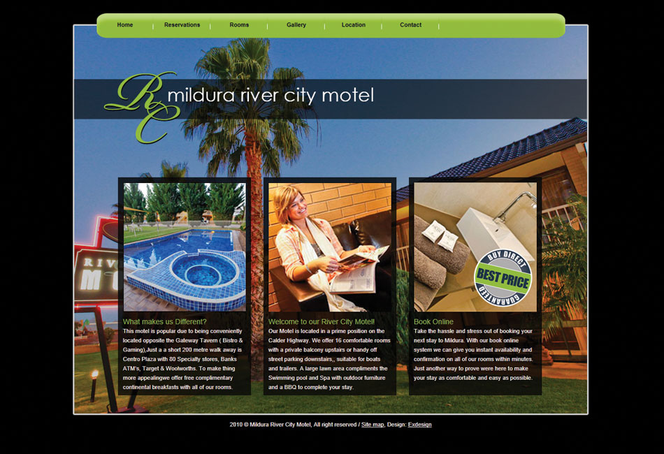 Mildura River City Motel Website