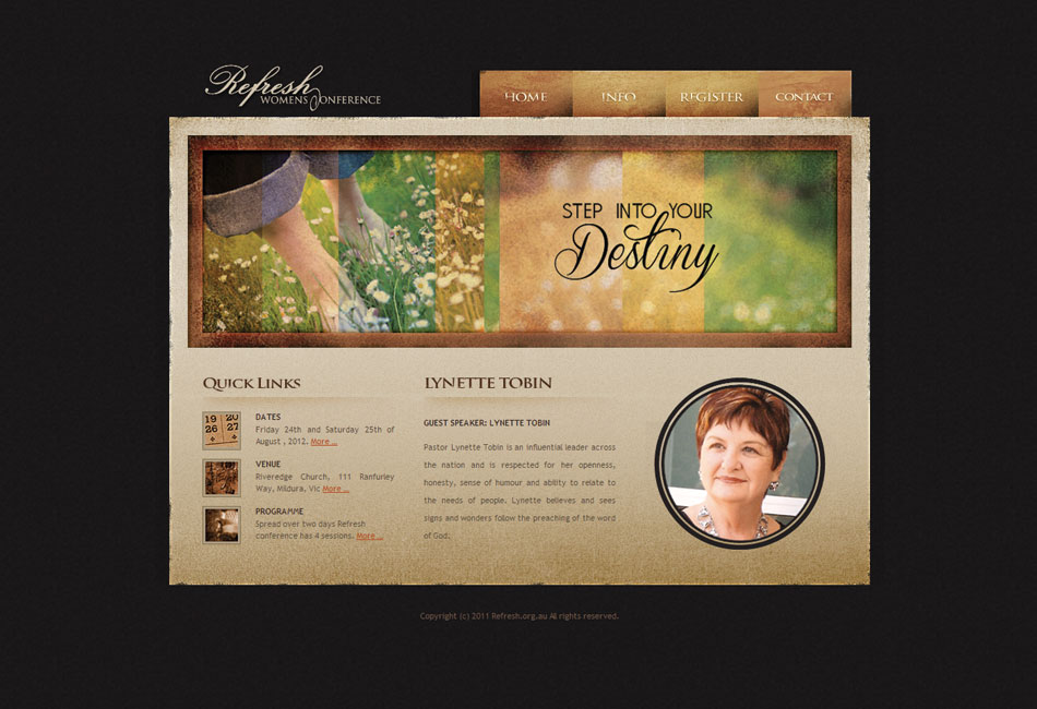Refresh Womens Conference Website